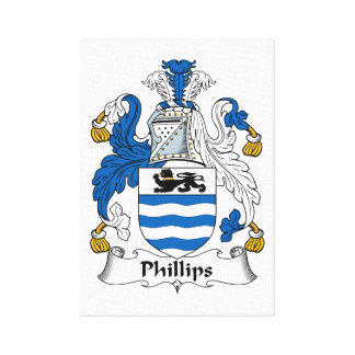 Phillips Family Crest Canvas Print
