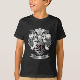 Phillips Family Crest Coat of Arms T-Shirt