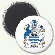 Phillips Family Crest Magnet