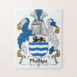 Phillips Family Crest Jigsaw Puzzle