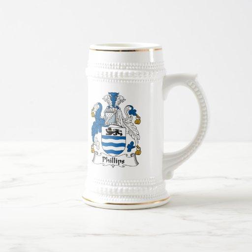 Phillips Family Crest Mugs