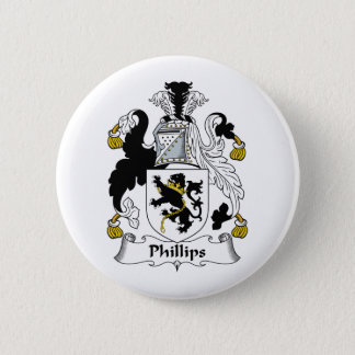 Phillips Family Crest Pinback Button