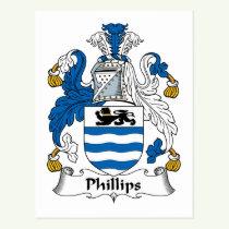 Phillips Family Crest Postcard
