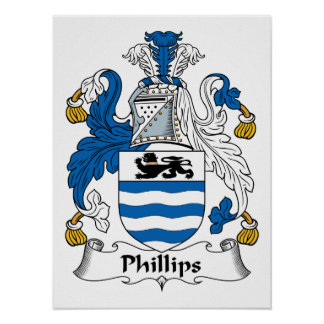 Phillips Family Crest Posters