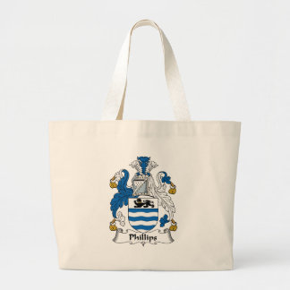 Phillips Family Crest Tote Bags