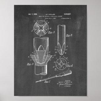 Phillips head Screwdriver Patent - Chalkboard Poster