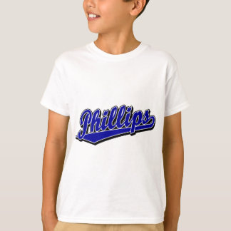 Phillips script logo in Blue T-Shirt