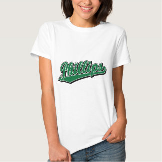 Phillips script logo in Green Tee Shirt