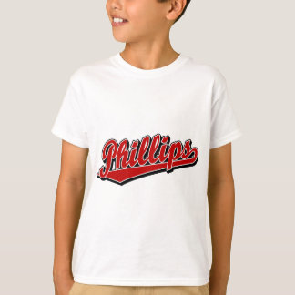 Phillips script logo in Red T-Shirt