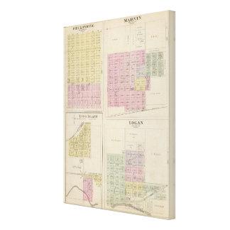 Phillipsburg, Marvin, Long Island, Logan, Kansas Impresión De Lienzo
