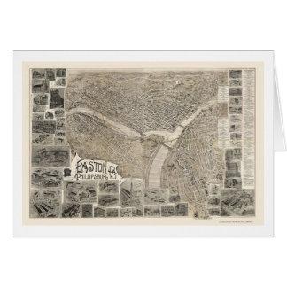 Phillipsburg NJ Easton PA Panoramic Map - 1900 Greeting Cards