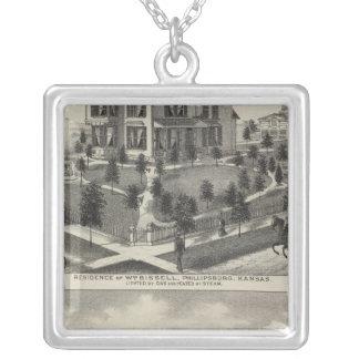 Phillipsburg Traders Bank, Kansas Square Pendant Necklace