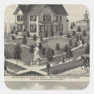Phillipsburg Traders Bank, Kansas Square Sticker