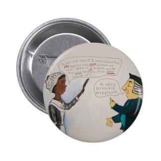 Phillis Wheatley Political Cartoon Button