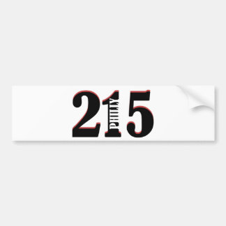 Philly 215 bumper sticker