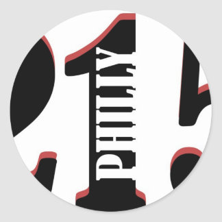 Philly 215 classic round sticker