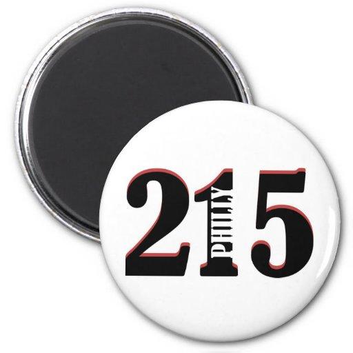 Philly 215 imán redondo 5 cm