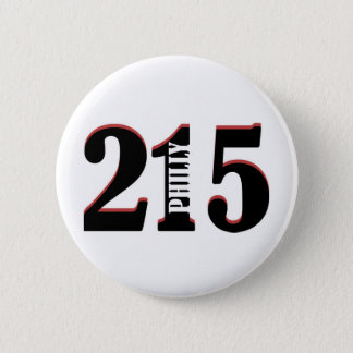Philly 215 pinback button