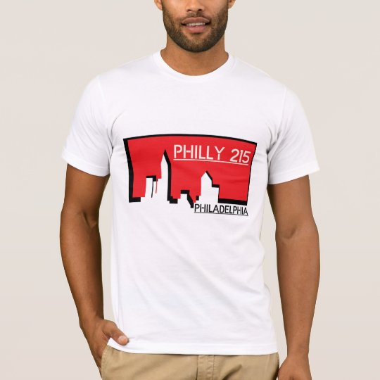 Philly 215 Rep Your City T-Shirt
