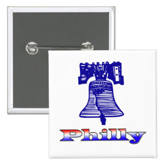 Philly and Liberty Bell Pinback Buttons