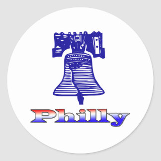 Philly and Liberty Bell Classic Round Sticker