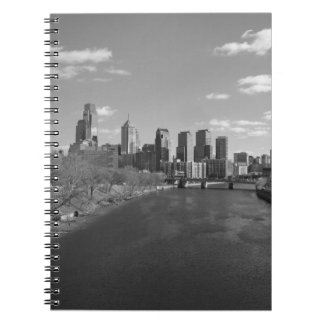 Philly b/w spiral note book