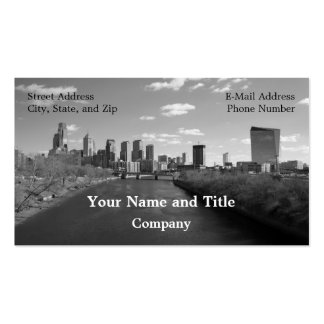 Philly b/w tarjeta de visita