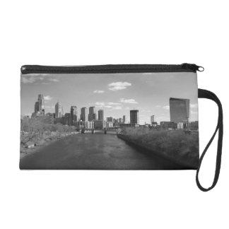 Philly b/w wristlet purse