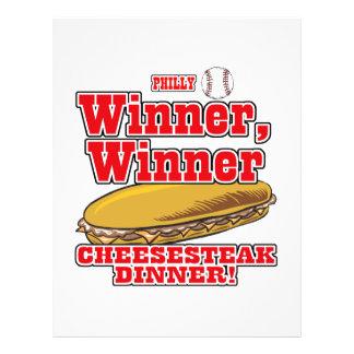"""Philly Baseball Winner Winner Cheesesteak Dinner 8.5"""" X 11"""" Flyer"""