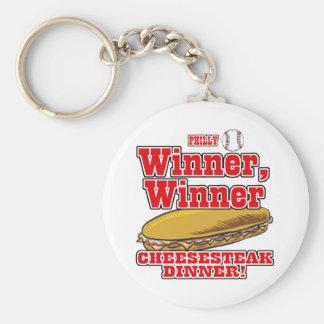 Philly Baseball Winner Winner Cheesesteak Dinner Keychain
