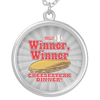 Philly Baseball Winner Winner Cheesesteak Dinner Necklace