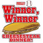 Philly Baseball Winner Winner Cheesesteak Dinner Photo Cut Outs