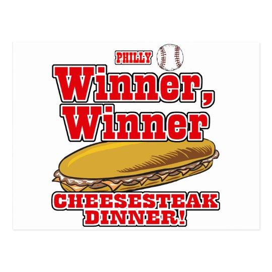 Philly Baseball Winner Winner Cheesesteak Dinner Postcard