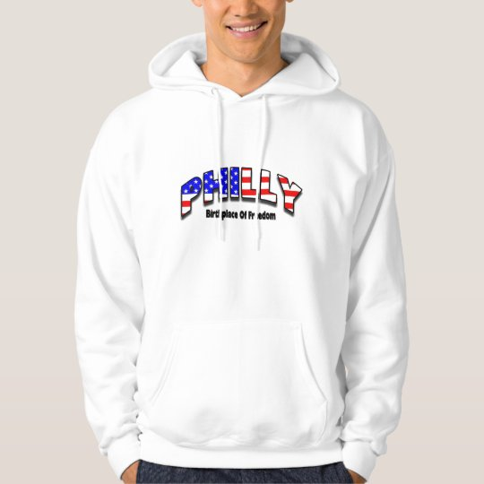 Philly - Birthplace of Freedom Adult White Hoodie