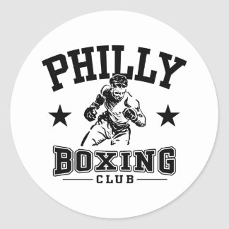 Philly Boxing Classic Round Sticker