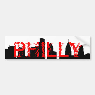 PHILLY Bumper Sticker Car Bumper Sticker