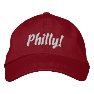 ¡Philly! Casquillo en rojo y blanco Gorra De Beisbol