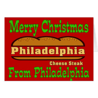 Philly Cheese Steak Christmas Card