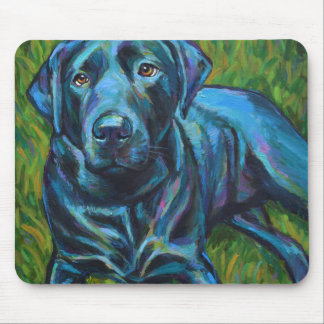 Philly Cheesesteak the BLACK LABRADOR Mouse Pad