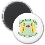 Philly Cheesteak War 2 Inch Round Magnet