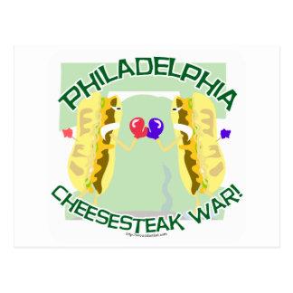 Philly Cheesteak War Postcard