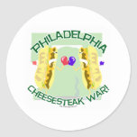 Philly Cheesteak War Stickers