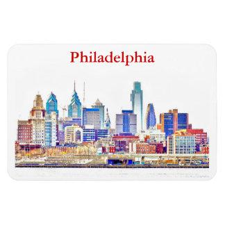 Philly Color Sketch Skyline Premium Magnet