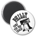 Philly - Come for the Crack! 2 Inch Round Magnet