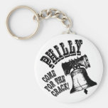 Philly - Come for the Crack! Basic Round Button Keychain