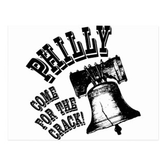 Philly - Come for the Crack Postcard