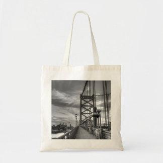 Philly del puente bolsa tela barata