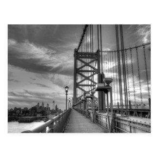 Philly del puente tarjeta postal