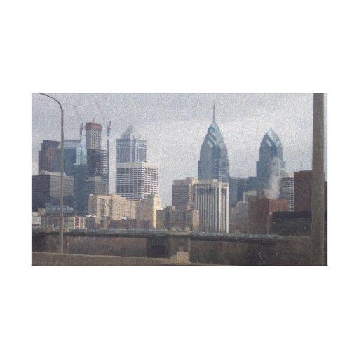 Philly en aceite impresiones en lona estiradas