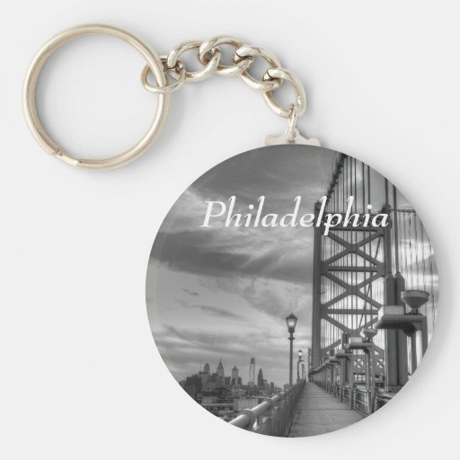 Philly from the bridge key chains